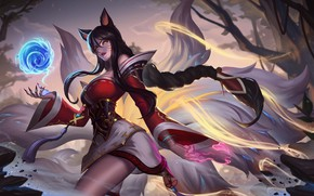 Picture girl, MAG, sorceress, League of Legends, LoL, Ahri, League Of Legends, Ari