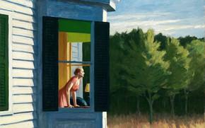 Wallpaper Edward Hopper, 1950, Cape Cod Morning