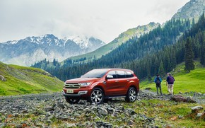 Picture forest, mountains, transport, car, Ford Everest