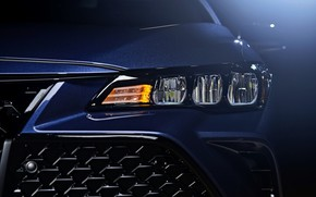 Picture blue, headlight, the hood, Toyota, grille, the front, 2018, Avalon