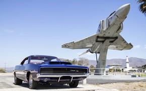 Picture Muscle, Dodge, Car, Classic, Blue, Charger, Mopar, Aircarft