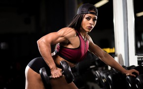 Picture brunette, workout, fitness, trainning