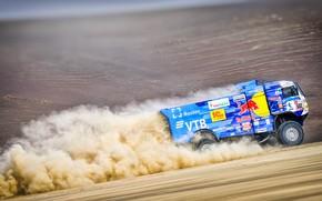 Picture Sand, Auto, Dust, Sport, Machine, Truck, Race, Master, Russia, Kamaz, Rally, Dakar, KAMAZ-master, Dakar, Rally, …