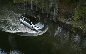 Picture auto, water, river, Land Rover, Range Rover, Defender, 110