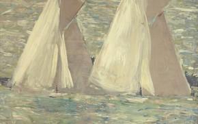 Picture sea, picture, sail, 1898, Paul Cesar Helleu, Paul Cesar Helleu, Regatta in Cowes