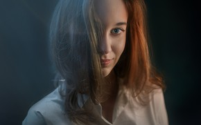 Picture look, portrait, Girl, Alexander Drobkov-Light, Victoria Rhine