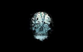 Picture Minimalism, Skull, Forest, Birds, Branches, Style, Fantasy, Art, Birds, Art, Style, Sake, Fiction, Fiction, Minimalism, …