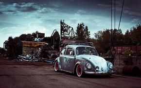 Picture Volkswagen, Car, Old, Vintage, Beetle
