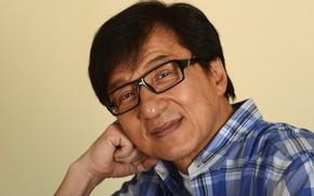 Picture look, pose, smile, glasses, actor, Jackie Chan, Jackie Chan
