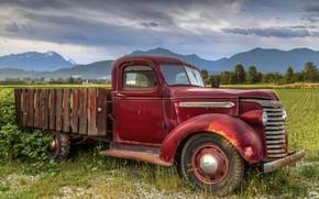 Wallpaper rusty, truck, old