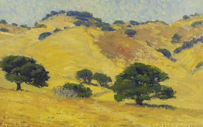 Picture landscape, picture, The Golden Hills of California, William Silva, William Posey Silva