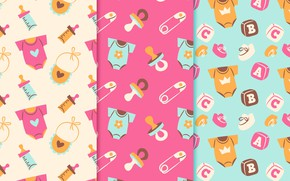Picture Wallpaper, Baby, patterns, collection, children's room