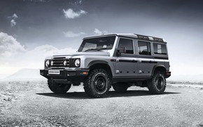 Picture desert, SUV, prototype, Grenadier, Ineos