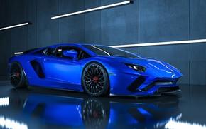 Picture Auto, Blue, Lamborghini, Machine, Car, Supercar, Aventador, Lamborghini Aventador, Supercar, Sports car, Transport & Vehicles, …