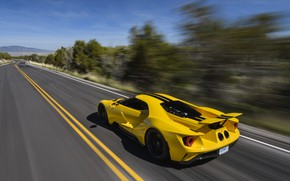 Picture road, speed, Ford, supercar, Ford GT, 2017