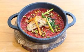 Picture chicken, soup, meat, vegetables, carrots, soup