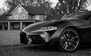 Picture black, coupe, Toyota, Supra, the front part, the fifth generation, mk5, double, 2020, 2019, GR …
