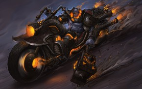 Picture Fire, Monster, Motorcycle, Hammer, Flame, Fire, Monster, Art, Art, Flame, Fiction, Illustration, Character, Hammer, Biker, …