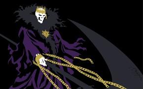 Picture death, crown, skeleton, Bleach, Bleach