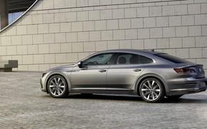 Picture Volkswagen, 2018, Elegance, liftback, four-door, 2017, Arteon, gray-silver