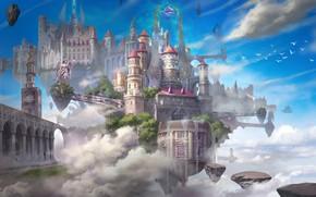 Picture castle, magic, soaring