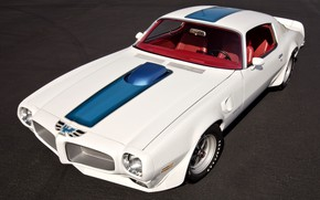Picture Pontiac, White, Firebird, Trans Am, Muscle Car