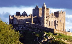 Picture the sky, clouds, castle, ruins, Ireland, Rock of Cashel, medieval architecture