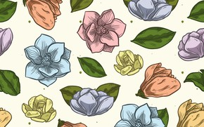 Picture background, texture, buds, vintage, twenty