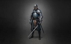 Picture Minimalism, Armor, Sword, Warrior, Art, Art, Claymore, Warrior, Knight, Minimalism, Sword, Armor, Character, Max Yenin, …