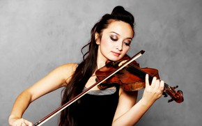 Picture girl, background, the game, violinist, solo performer