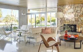 Picture design, living room, interior, CA, Palm Springs