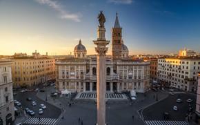 Picture building, home, area, Rome, Italy, Church, Italy, column, Rome, Basilica, Basilica di Santa Maria Maggiore, …