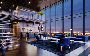 Picture space, interior, penthouse, living room, USA Luxury Life, Dream House Interior, Luxury Homes, Luxury penthouse …