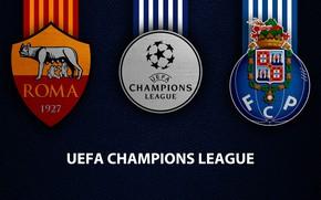 Picture wallpaper, sport, logo, football, AS Roma, UEFA Champions League, Porto, AS Roma vs Porto