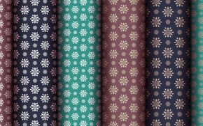 Picture flowers, green, background, pattern, brown