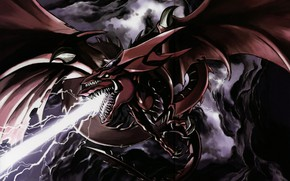 Picture dragon, art, mouth, Yu-Gi-Oh!