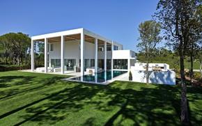 Picture Villa, pool, architecture, terrace, Quinta do Lago, by de Blacam and Meagher Architects, San Lorenzo …