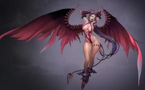 Picture anime, art, demoness, Royal blood, Bio Bio