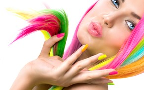 Picture style, makeup, hairstyle, manicure