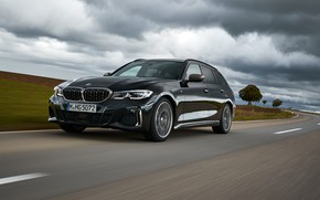Picture clouds, black, BMW, 3-series, universal, 3P, 2020, 2019, G21, M340i xDrive Touring
