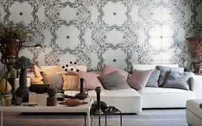 Picture style, Wallpaper, interior, sofa, living room