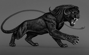 Picture Panther, mouth, beast