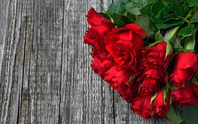 Picture roses, bouquet, red, wood, roses, bouguet
