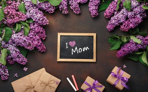 Picture spring, gifts, lilac, Mother's day