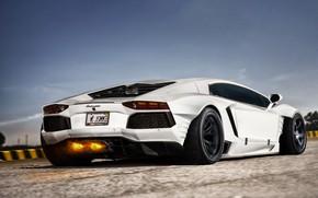 Picture Auto, Lamborghini, White, Fire, Machine, Car, Auto, Supercar, White, Aventador, Lamborghini Aventador, Supercar, Sports car, …
