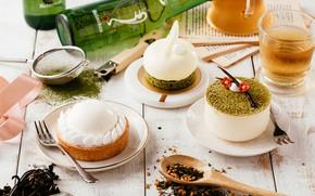 Picture tea, cuts, desserts