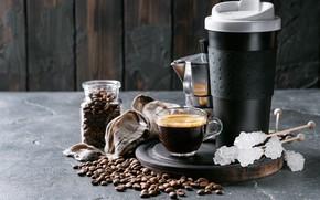Picture coffee, grain, Bank, sugar, coffee, espresso