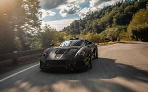 Picture supercar, 2018, Black Edition, Mazzanti, Evantra, Millecavalli