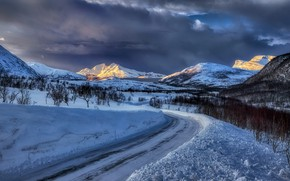 Picture Winter, Norway, island Tromsö