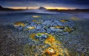 Picture nature, the volcano, lava